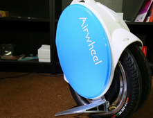 The twin-wheeled Airwheel Q5 has an upgraded chip and the chassis is redesigned being more streamlined.
