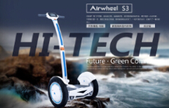 Airwheel Electric Unicycle takes some beating.